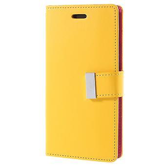 Mercury GOOSPERY Rich Diary to iPhone X-Yellow