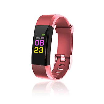 ID115 Plus Activity bracelet with Color Display-Red