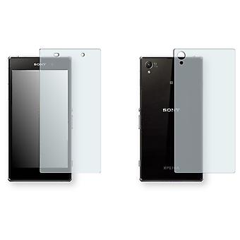 Sony Xperia Z1 LTE display protector - Golebo crystal-clear protector (1 front / 1 rear)