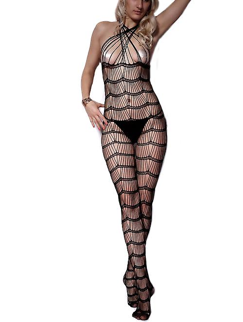 Waooh 69 - held Sexy combination FishNet black Zaya