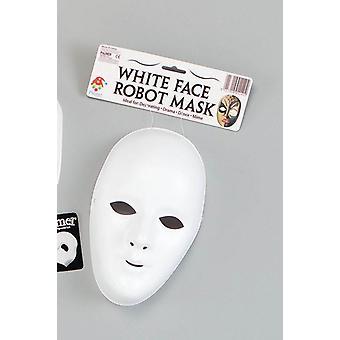 Deluxe weiblichen Gesichtsmaske. Weiß.