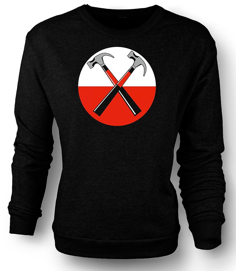 Mens Sweatshirt Pink Floyd - The Wall Twin Hammer