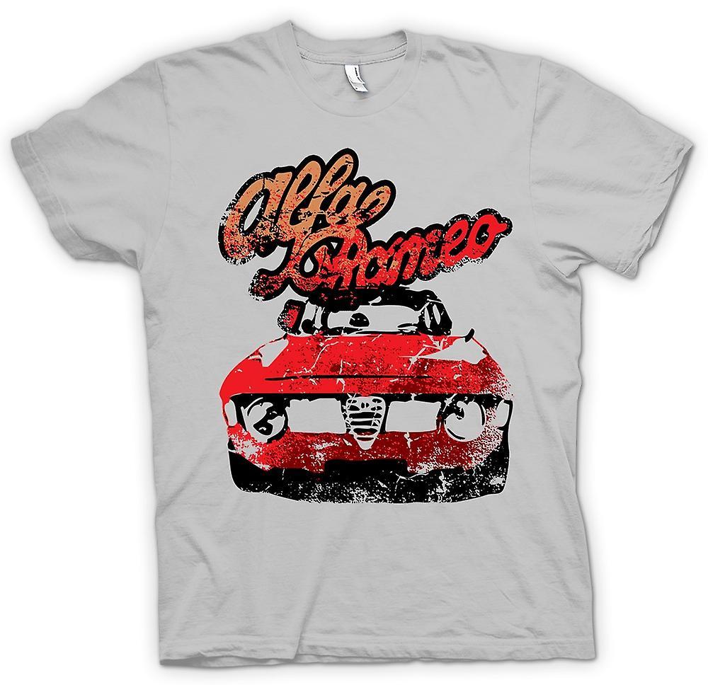 Mens t-skjorte-Alfa Romeo klassisk bil