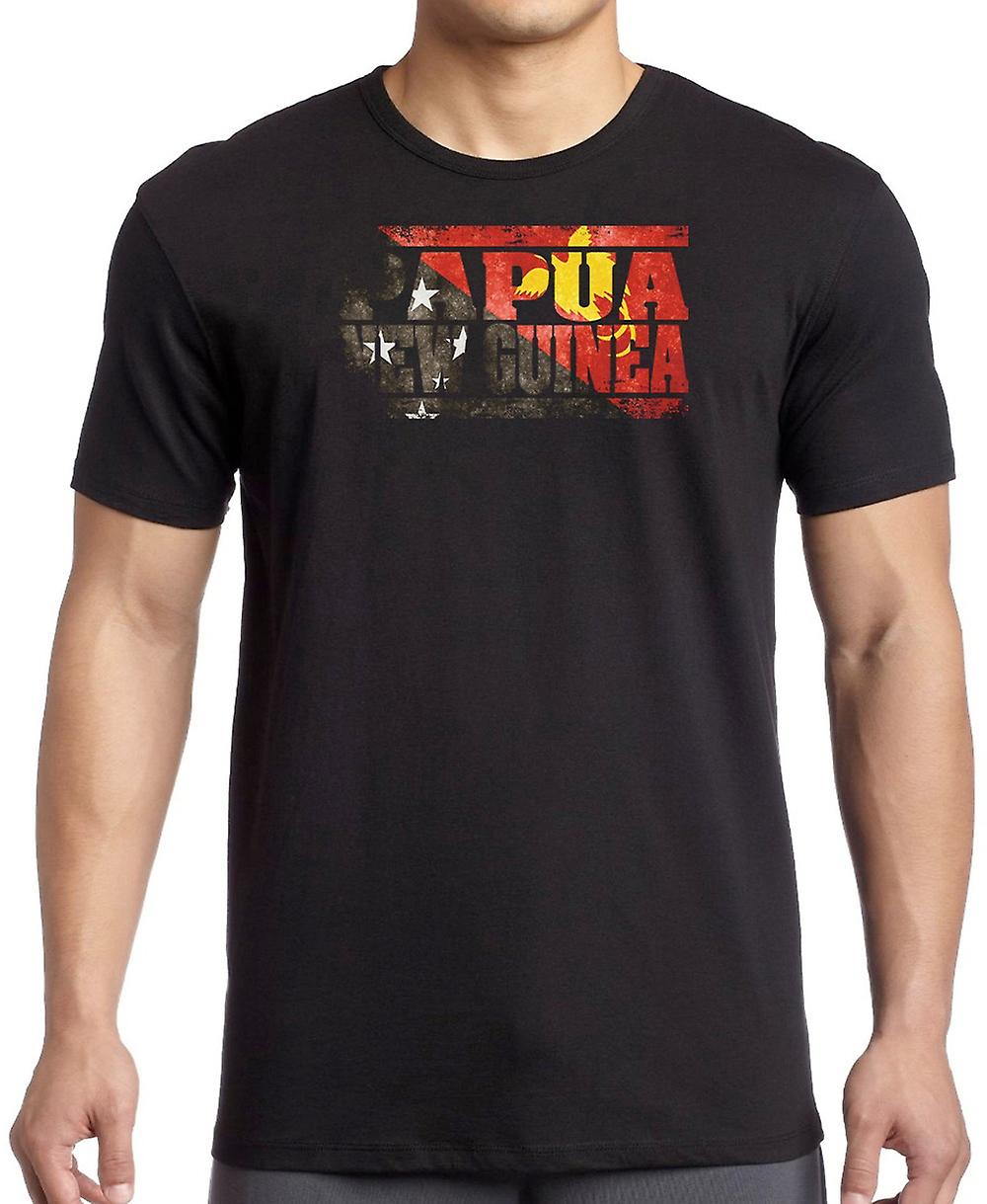 PapuaNewGuinea Flag - Words Kids T Shirt