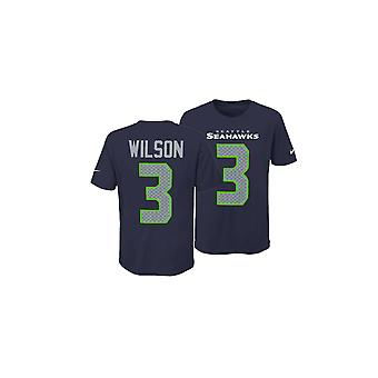 Nike Nfl Seattle Seahawks Russell Wilson Youth Pride Name And Number 3.0 T-shirt