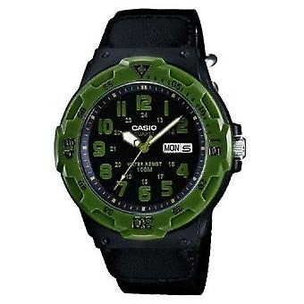 Casio Collection Quartz Analogue Men's Watch With Black Dial Cloth Strap - Mrw-200hb-1bvef