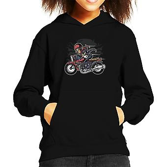Cafe Racer Motorcycle Kid's Hooded Sweatshirt