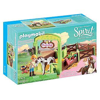 Playmobil DreamWorks Spirit 9480 Horse Box Abigail and Boomerang