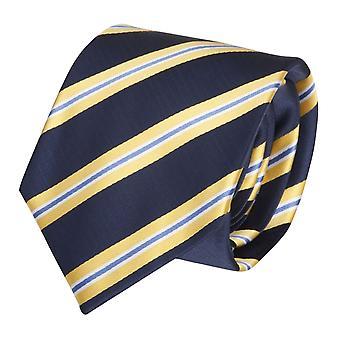 Krawat krawat krawat krawat 8cm niebieski paski żółto - Fabio Farini