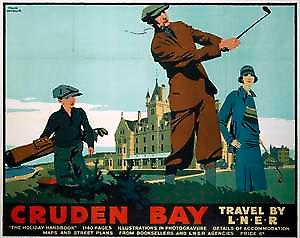 Cruden Bay (old LNER ad.) fridge magnet