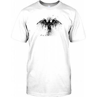 Schwarzer Adler-Grunge-Design - cooler Effekt Kinder T Shirt