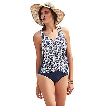Susa 4288-049 Women's Wall Art Navy Blue Costume One Piece Swimsuit
