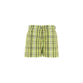 Kenzo Yellow Cotton Shorts