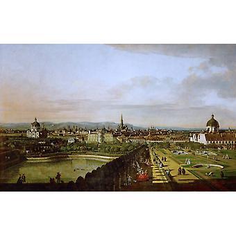 Wien, sett fra Belvedere-slottet, Bernardo Bellotto, 60x38cm