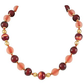 Eternal Collection Satinato Cherry Red Venetian Murano Glass Necklace