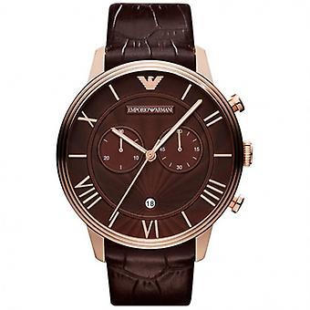 Emporio Armani Ar1616 Mens Brown Leather Watch