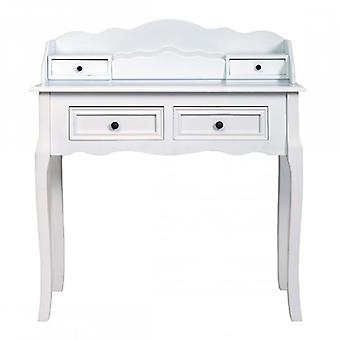 REBECCA Furniture Desk White 4 drawers classic style lounge room