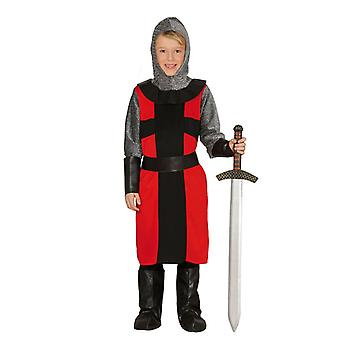 Jongens feodale ridder fancy dress kostuum