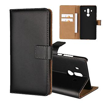 Wallet cover Huawei Mate 10 PRO, genuine leather, black