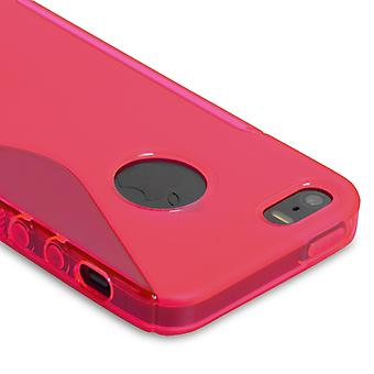 Caseflex iPhone 5 and 5S S-Line Gel Case - Hot Pink