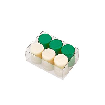 Deluxe Backgammon Stones Green & Ivory 26mm