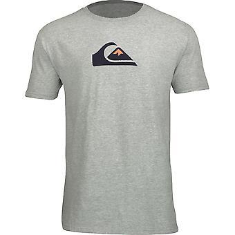 Quiksilver mens comp logo T-shirt-atletisk Ljung grå
