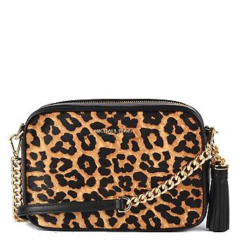 MICHAEL by Michael Kors Leopard Print Calf Hair Camera Crossbody Bag