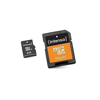 Memory Micro SD with adapter INTENSO 3413460 8 GB class 10 card