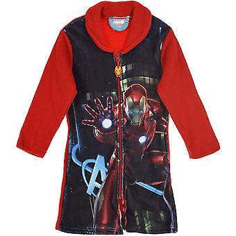 Boys RH2131 Marvel Avengers Coral Fleece Dressing Gown