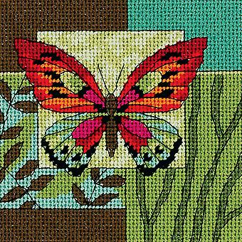 Butterfly Impression Mini Needlepoint Kit 5