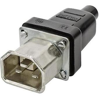 Hot wire connector C22 ATT.LOV.SERIES_POWERCONNECTORS 444 Plug, straight Total number of pins: 2 + PE 16 A Black Kalthof