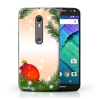 STUFF4 Case/Cover for Motorola Moto X Style/Bauble/Tree/Christmas Decorations