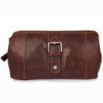 Woodland Leathers Mahogany Wash Bag