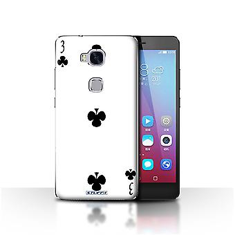 STUFF4 Case/Cover for Huawei Honor 5X/GR5/3 of Clubs/Playing Cards