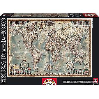 Educa The World, Executive Map 4000 Pieces (Toys , Boardgames , Puzzles)
