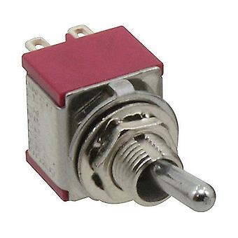 Rocker switch 2-pole with neutral position, both sides groping, (ON)-OFF-(ON)