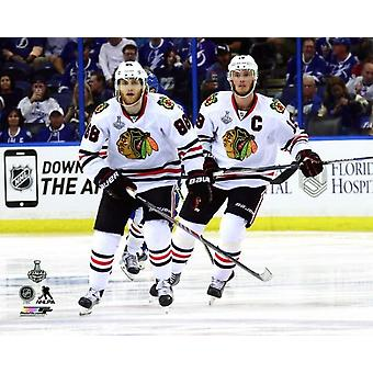 Patrick Kane & Jonathan Toews Game 1 of the 2015 NHL Stanley Cup Finals Photo Print