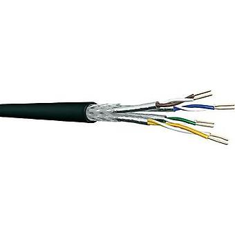 Network cable CAT 7 S/FTP 4 x 2 x 0.25 mm² Black DRAKA 1001087-00100RW Sold per metre