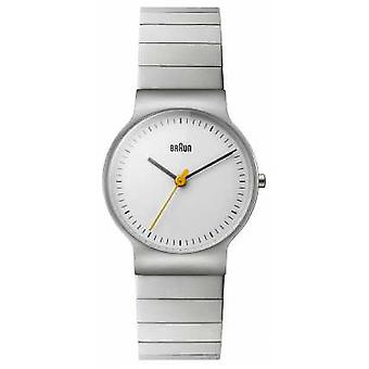 Braun Womens Stainless Steel Bracelet White Dial BN0211SLBTL Watch