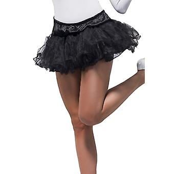 Smiffys Black Tulle Petticoat Underskirt Tutu Womens Fancy Dress Accessory