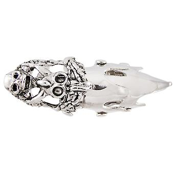 Western Steer Skull Full Finger Armor Ring 4 in. Long Goth