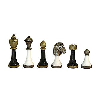 Black & White Metal Chessmen