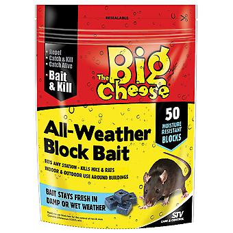 The Big Cheese All Weather Block Bait Pk50 (Pack of 6)