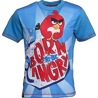 BORN TO BE ANGRY | ANGRY BIRDS MOVIE | Official Licensed | Angry Bird T-Shirt | Age 7-8