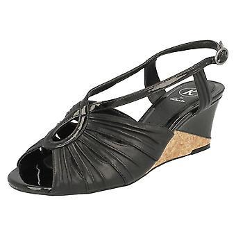 Las señoras K por Clarks cuña sandalias Santo deseo