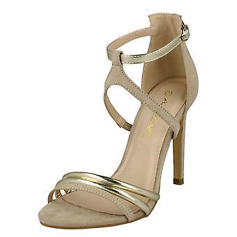 Ladies Anne Michelle High Heel Strappy Mule Sandals F10695