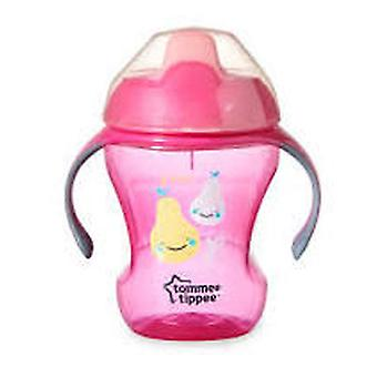 Tommee Tippee Glass With Drink Easy straw girl. + 6 Months