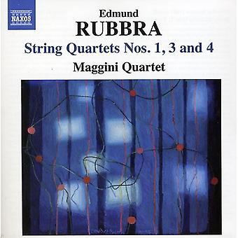 E. Rubbra - Edmund Rubbra: String Quartets Nos. 1, 3 & 4 [CD] USA import