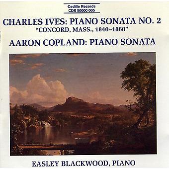 Easley Blackwood - Charles Ives: Klaversonate nr. 2 (Concord, Massachusetts, 1842-1860); Aaron Copland: Klaversonate [CD] USA importerer