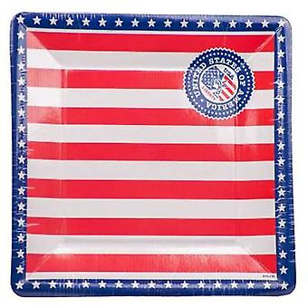 USA Party 8 plate rectangular party platter America stars and stripes